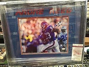 Andre Reed Autographed 11x14 Framed Picture JSA Authentic Coa Bills Hof Inscription