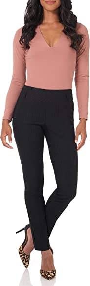 Rekucci Women's Ease in to Comfort Fit Stretch Slim Pant