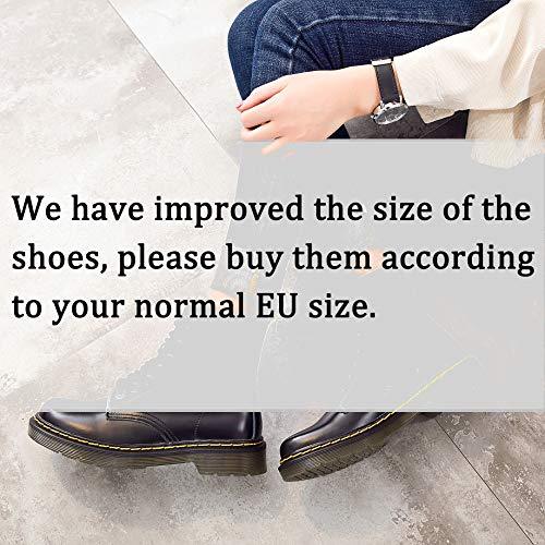 marron Impermeables Ukstore bottines Botte classiques Plates Femme Sans boots Hiver Chaussures Doublure Lacets Fourrées Chaudes homme Bottes OAwnaOrqg
