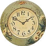 Roger Lascelles Tin Wall Clock, Daisy Design 14.2-Inch