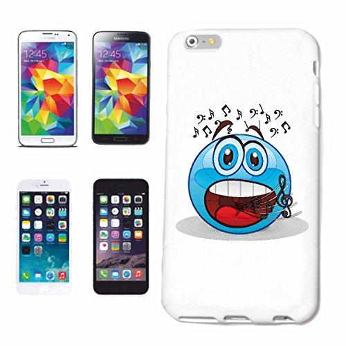 """cas de téléphone iPhone 6S """"sourire de EMOTICON de MERRY SMILEY LE CHANT """"SMILEYS SMILIES ANDROID IPHONE EMOTICONS IOS APP"""" Hard Case Cover Téléphone Covers Smart Cover pour Apple iPhone en blanc"""