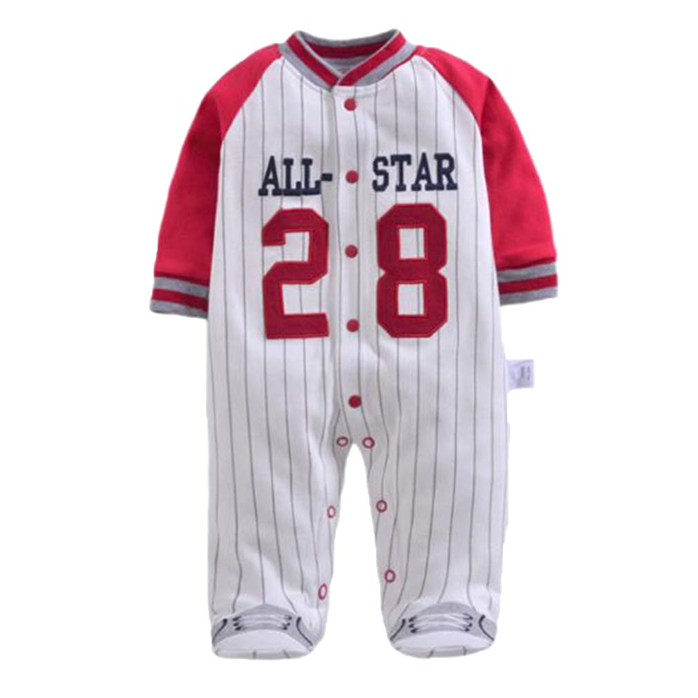 hibote Baby Boy Clothes Long Sleeved Jumpsuit Soft Cotton Baby Pagliaccetti Baseball Uniform New Born Baby Clothes