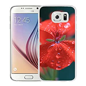 Geranium Red Drops Macro (2) Durable High Quality Samsung Galaxy S6 Edge Case