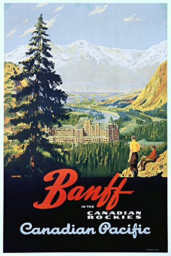 (Canada - Banff - Canadian Pacific - (artist: Trompf) - Vintage Advertisement (9x12 Art Print, Wall Decor Travel Poster))