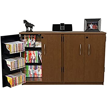 Amazon.com: Venture Horizon Top Load CD DVD Media Storage Cabinet ...