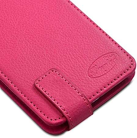 Seluxion – Funda con tapa tapa color rosa Universal S para ...
