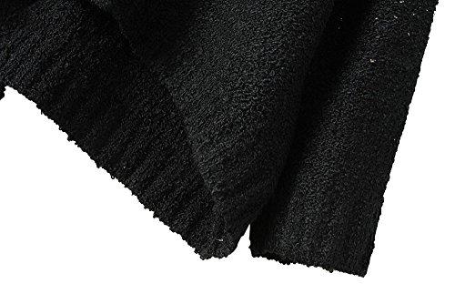 Más Tamaño Fuera De Suéter Del Mujeres Punto Crewneck Camisas Hombro Batwing 1 Pullover Plateado Mangas Suelto 8Uxqzdw
