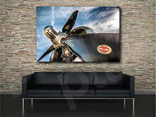 Hamilton Standard Propeller Aircraft Canvas Art Print Home Wall Decor (Canvas 42in x 27in)
