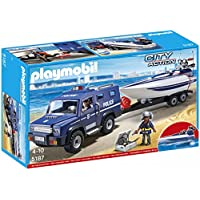PLAYMOBIL Police Truck with Speedboat