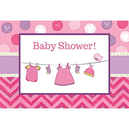 Shower with Love Girl Postcard Invitations ()