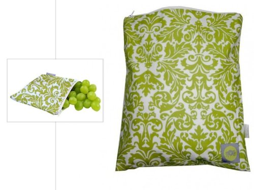 Itzy Ritzy Wet Happened and Snack Happened Bundle (Avocado Damask) by Itzy Ritzy