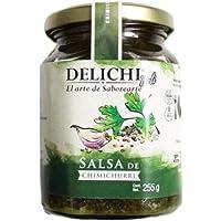 Delichi Salsa de chimichurri aderezo para pastas, carnes, ensaladas 255 gramos
