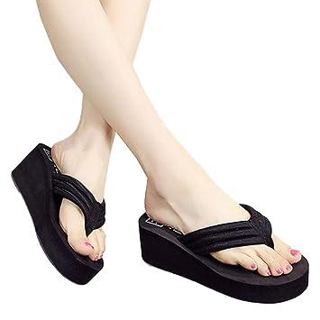 Amazon.com: Sandalias de mujer, Bohemia flip-flop Slide ...