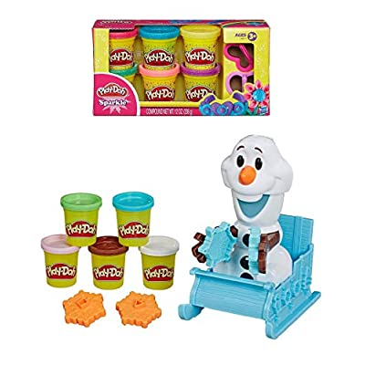 Play Doh Frozen 2 Olaf's Sleigh Ride Playset + Play Doh Sparkle Compound: Arts, Crafts & Sewing