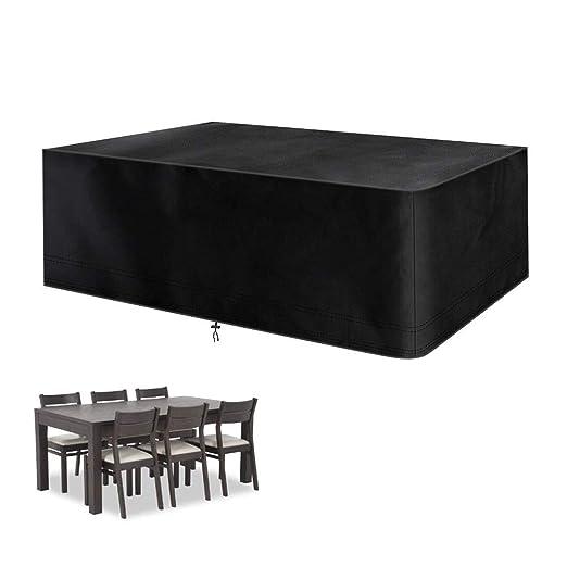 SS-Covers Jardín Cubierta De Muebles, Material De PVC Resistente Al Agua con Brazos Muebles De Terraza Cubierta For Silla Y La Mesa Sofá Encubrimiento 210D (Negro) (Size : 242×162×100cm): Amazon.es: Hogar
