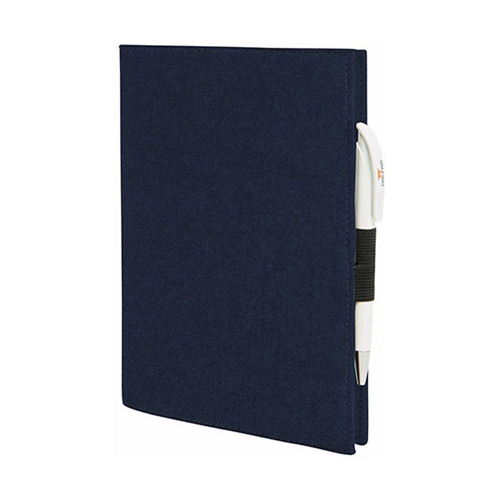 EQT-FASHION Premium Leseschutz Filz Hülle Buch für A5 Notizbücher Filz Buchhülle edler Einband blau A5-Notitzbücher