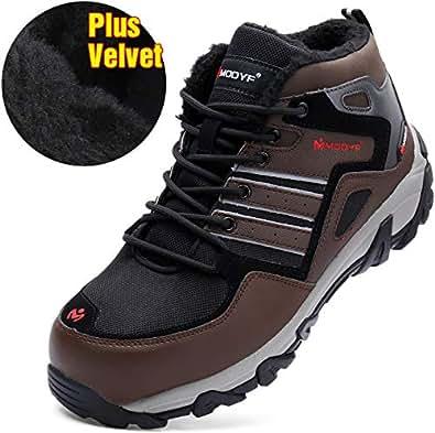 Amazon.com: Steel Toe Sheos Men, Safety Reflective Warm