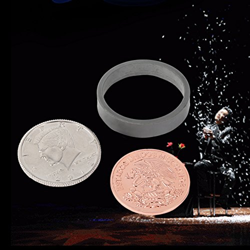 Walfront Magic Coins, Scotch and Soda Magic Trick Money Set, Professional Magician Ridge Scotch Soda Coins Tricks Close-Up