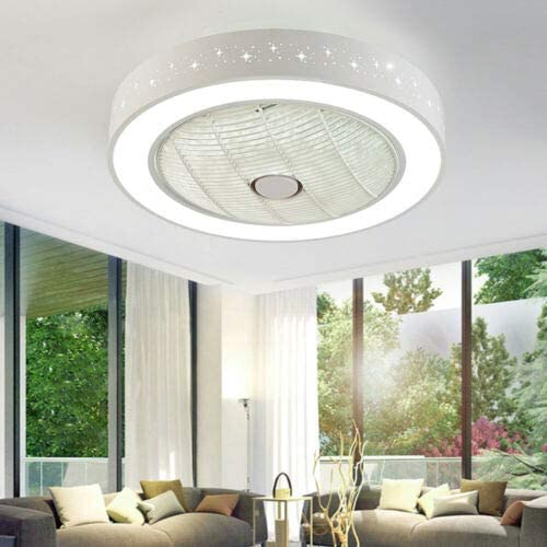 DNYSYSJ Acrylic Remote Control LED Lamp Round 3 Color 3 Wind Speed Dimmable Ceiling Fan Lighting 55CM Ceiling lighting Fixture Flush mount