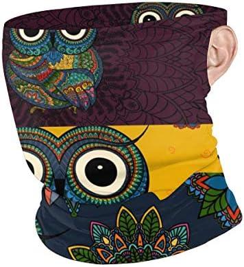 フェイスカバー Uvカット ネックガード 冷感 夏用 日焼け防止 飛沫防止 耳かけタイプ レディース メンズ Set Of Owl Bird