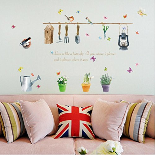Inverlee DIY Flying Birds Art Wall Stickers Vinyl Removable Decals Mural Home Room Decor (70cmX50cm)