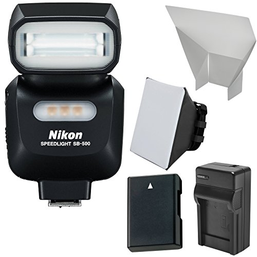 Nikon SB-500 AF Speedlight Flash & LED Video Light + EN-EL14