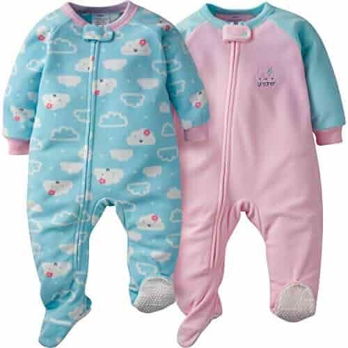 Gerber Baby Girls 2-Pack Blanket Sleeper,
