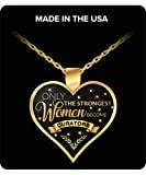 Museum Curator Gifts - Only the Strongest Women Become Curators Gold Plated Pendant Charm Necklace Gift