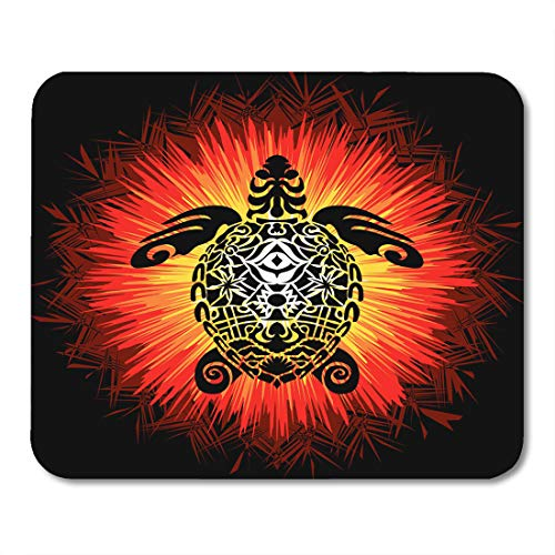 (Semtomn Mouse Pad Animal Totem Pole Turtle in Abstract Done Slightly Psychedelic Mousepad 9.8