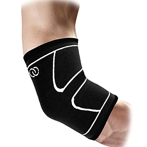 Elbow Brace Compression Support Sleeve by Compressions - Best for Tennis and Golfers Elbow Treatment, Arm Recovery, Tendonitis, Weightlifting – Reduces Joint Pain - For Men & Women (Medium)