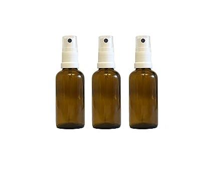 Farmacia de pulverizador de color marrón cristal vaporizador Efecto 3 piezas | cantidad de relleno 50