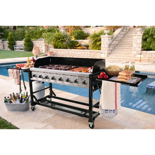 Commercial Outdoor Grill - Commercial Grade Large BBQ Grill for Events 8 burners 1ST Class