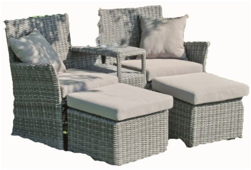 garten doppelsessel set hocker inkl auflagen und kissen poly rattan dunkelgrau g nstig kaufen. Black Bedroom Furniture Sets. Home Design Ideas