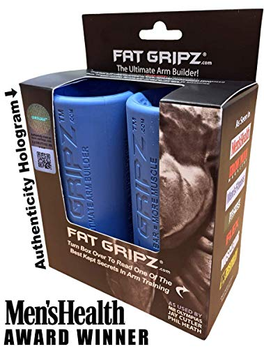 "Fat Gripz - The Ultimate Arm Builder (2.25"" Diameter, Most Popular, Original, Blue) (Fat Handle)"