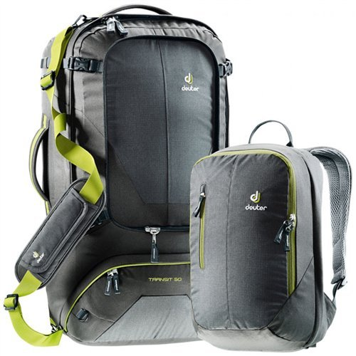 Deuter Transit 65 Backpack (Anthracite/Moss)