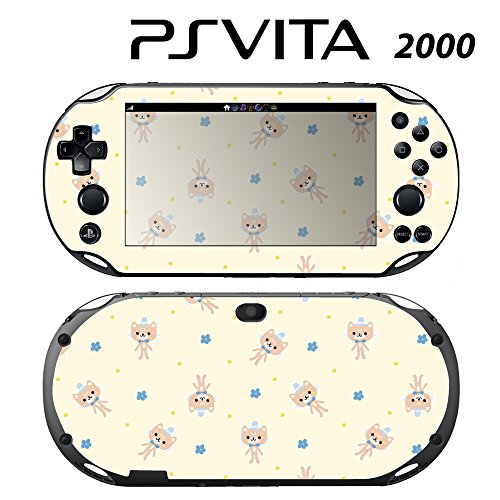 Skin Decal Cover Sticker for Sony PlayStation PS Vita Slim (PCH-2000) - Girl's Kitty Doll -  Decals Plus, PV2-PA06