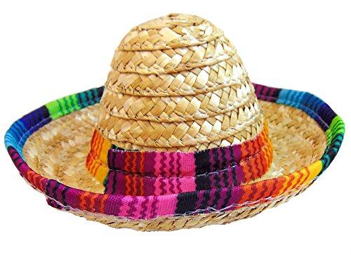 [Cinco de Mayo Mini Mexican Sombrero Hair Clip Hat 4 Inch] (Dia De Los Muertos Mariachi Costume)
