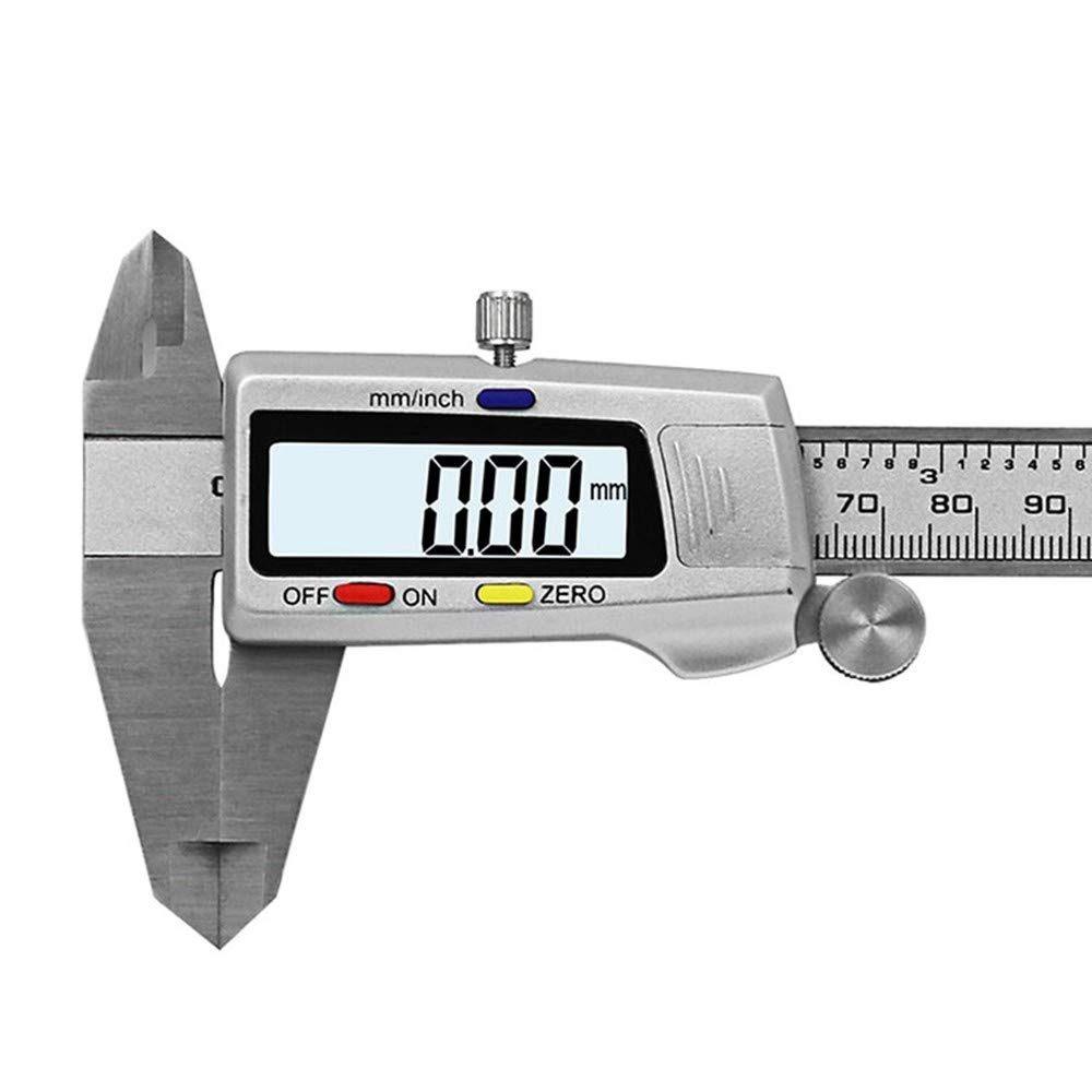 AWDGCKMT Herramienta de medici/ón Calibrador digital de acero inoxidable 6150Mm Messschieber Paquimetro Instrumento de medici/ón Vernier Calipers Style1