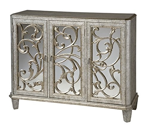 Stein World Furniture Leslie Mirrored Cabinet, Antique Silver