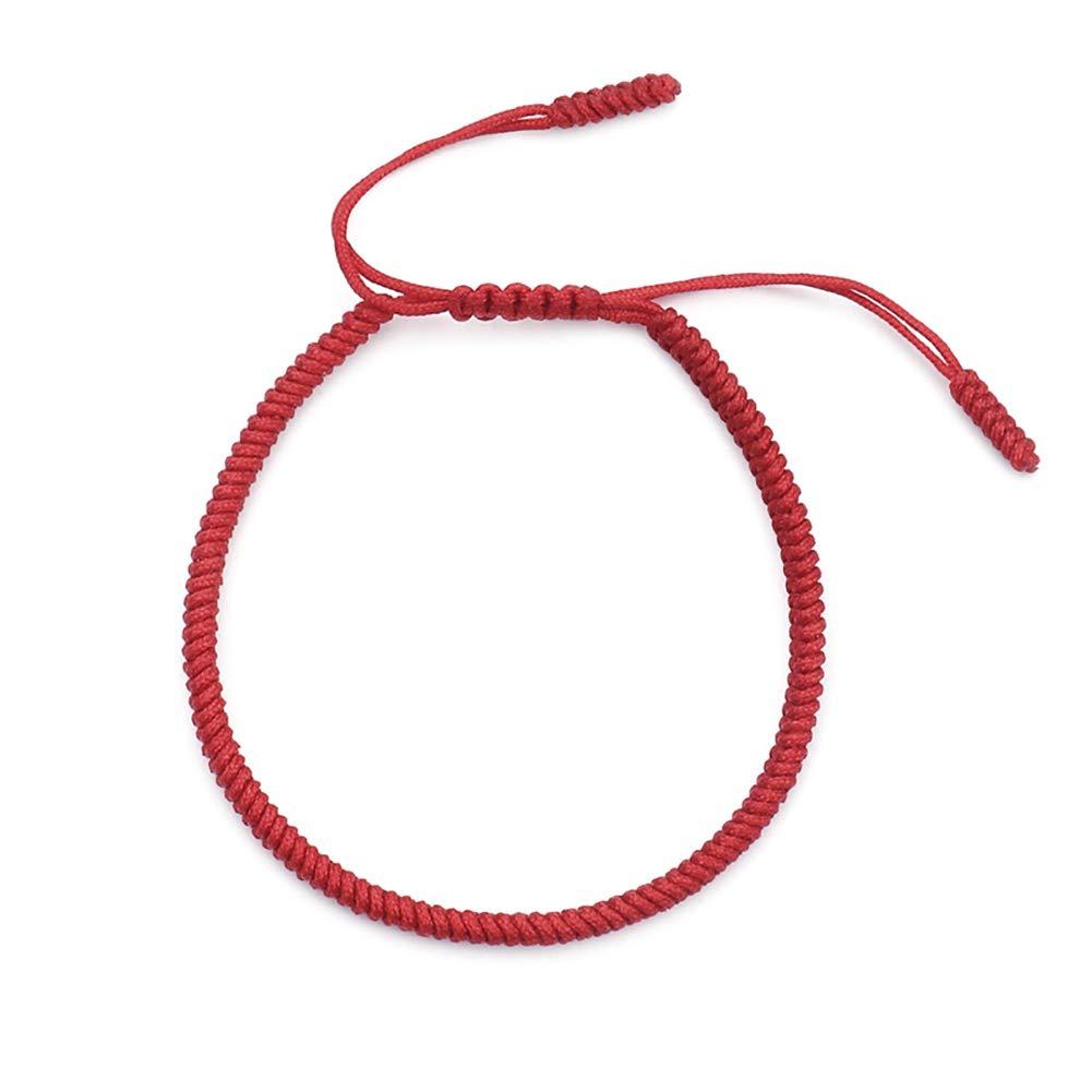 CHoppyWAVE Bracelets 1Pc Unisex Fashion Jewelry Gift Good Luck Handmade Rope Braided Bracelet Bangle - Red