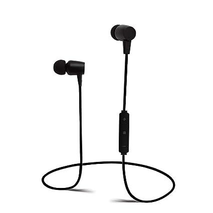 RimeU Auriculares intraurales Bluetooth estéreo inalámbrico deportivo con micrófono recargable batería bajo auriculares manos libres llamada ...