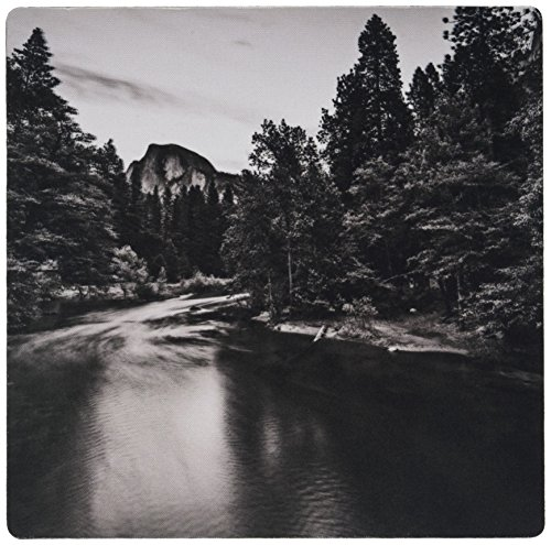3dRose Half Dome At Twilight from Sentinel Bridge In Black and White Mouse Pad - Dome Sentinel