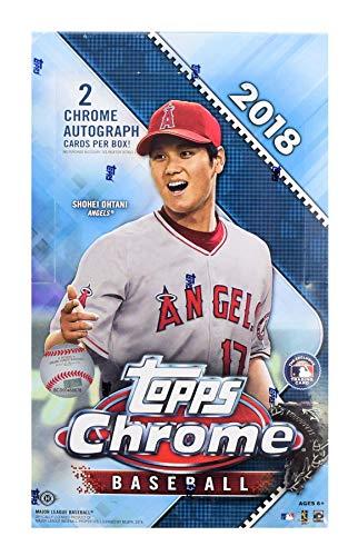 2018 Topps Chrome Baseball Hobby Box (2 Autographs/Box) from Chrome