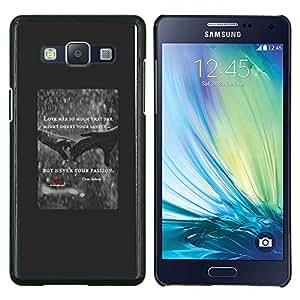 LECELL--Funda protectora / Cubierta / Piel For Samsung Galaxy A5 A5000 -- el amor del corazón de cotización lluvia cartel rojo manos --