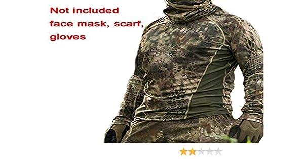 Worldshopping4U Hiker caza hombres combate BDU camiseta de manga larga marrón verde para ejército táctico militar para airsoft y paintball, Brown Green: Amazon.es: Deportes y aire libre