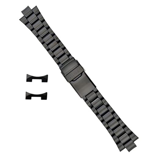 Citizen 59-S01091 Original Replacement Black Ion Plated Stainless Steel Watch Band Bracelet fits BJ7005