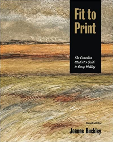 Book Fit to Print, the Canadian Student's Guide to Essay Writing