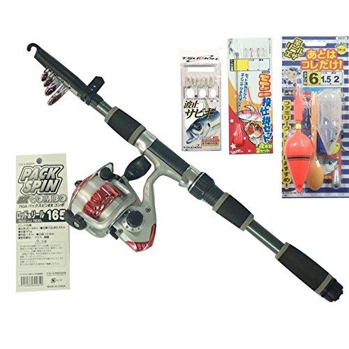 ハラ(TIGA) リール サビキ チョイ投げ 防波堤釣り完全セット REDの商品画像