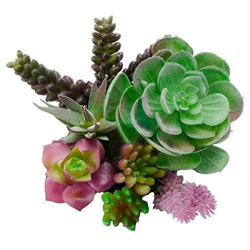 ELLIE ARTS Fake Succulent Plants - Unpotted - Create Cute Unique Decor Garden Arrangements These Large & Small 7 Colorful Assorted Pieces. DIY These Artificial - Faux - Cactus in -
