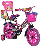eStofers Ollmii Bikes, 14 Inch Kids Cycle With Side Wheels (Pink) For The Age Group Of 3 To 6 Years